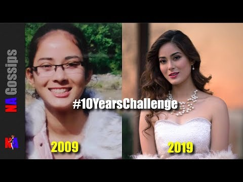 (10 years challenge - Nepali Actress, Miss Nepal, Shrinkhala, Malvika, Priyanka ... - Duration: 2 minutes, 10 seconds.)