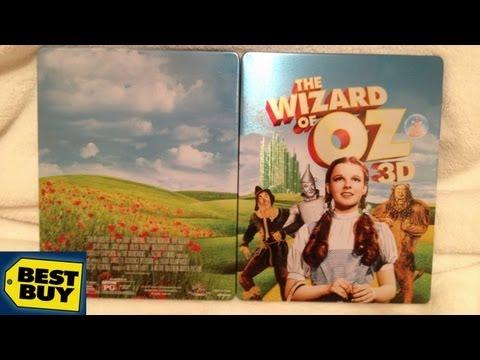 The Wizard of Oz 3D MetalPak/SteelBook Best Buy Exclusive Blu-ray Unboxing - (1939)