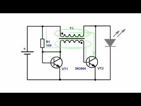 электрическая схема преобразователя напряжения