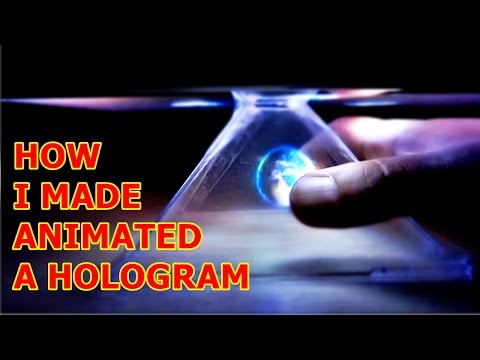 How To Make DIY Hologram  for Smartphone or  IPad Tablet | Pyramid 3D Holovision