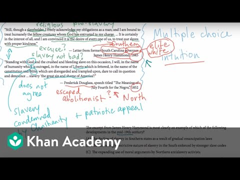 AP US History Multiple Choice Example 1 Video Khan Academy