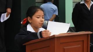Proclamación de la Independencia del Perú por alumnos de 5to Grado de Primaria