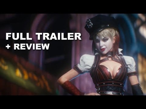 review trailer - Batman Arkham Knight debuts its official video game trailer for 2014! Watch it today with a trailer review! http://bit.ly/subscribeBTT Batman Arkham Knight d...