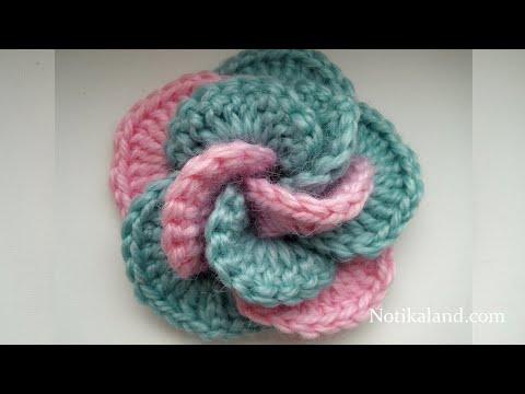 uncinetto - fiore a spirale