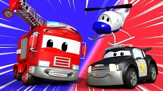 Video Car Patrol of Car City - Police Car Cartoons & Fire Truck Videos for Kids 🚒 🚓 Cartoon for Children MP3, 3GP, MP4, WEBM, AVI, FLV Maret 2018