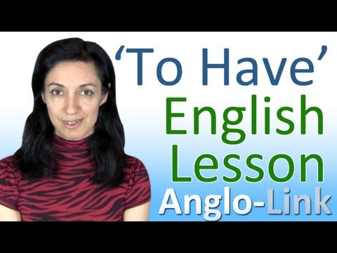have - Learn how to use 'To Have' when speaking English. This English Lesson will teach you the many different uses 'To Have' has in the English language. To get mo...