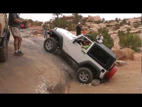 MOAB - One obstacle on our way out of the Gold Bar Rim trail in Moab, UT. Memorial day weekend 2012.