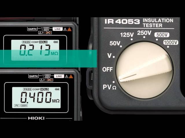 太陽光発電システム用 絶縁抵抗計IR4053製品紹介