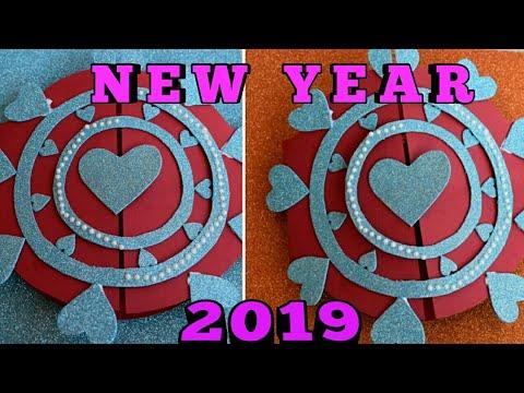 Diy New Year Greeting Card 2019 Papercraft Latest Design Craft