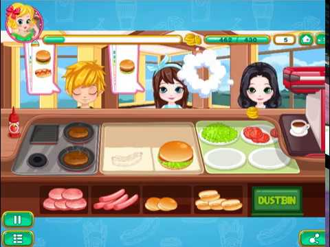 Burger & Hotdog Stand -  Cartoon Game Cooking