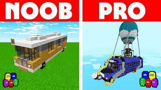 Among Us Vs Minecraft - NOOB VS PRO: BUS BUILD CHALLENGE! Minecraft Among us Animation
