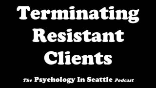 Dr. Kirk Honda talks with Rebecca Bloom terminating with resistant clients.The Psychology In Seattle Podcast. July 14, 2017.Email: Contact@PsychologyInSeattle.comBecome a patron of our podcast by going to https://www.patreon.com/PsychologyInSeattle
