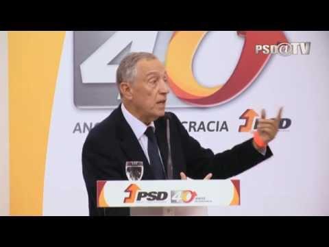 Marcelo Rebelo de Sousa sobre os 40 anos do PSD