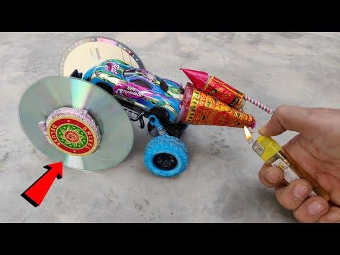 जब पहिए पे CD DVD लगी हो और यही नही चकरी अनार राकेट भी हो !! CD DVD Wali Real  Hot Wheels Diwali CAR