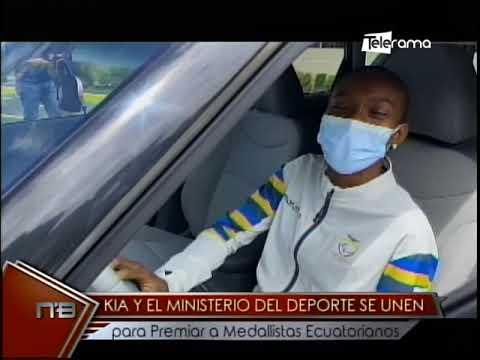 Kia y el ministerio del deporte se unen para premiar a medallistas ecuatorianos