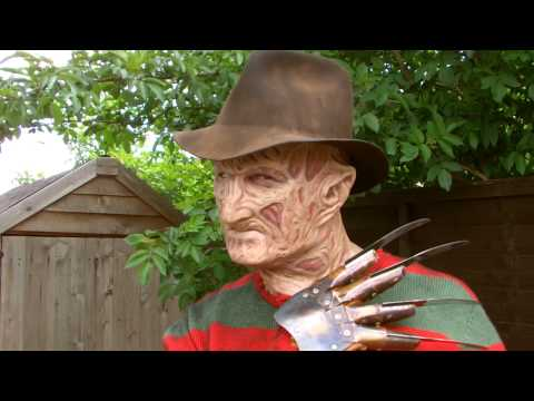 Part 3 Freddy Krueger Costume ( torched 3 silicone mask )