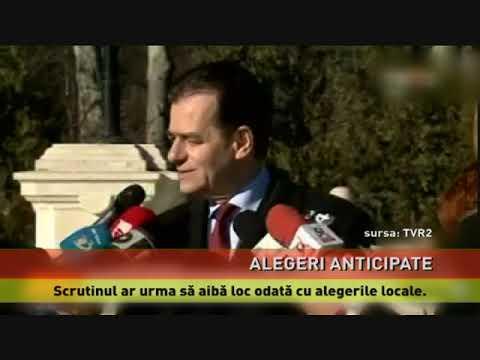 Acord între Iohannis și Orban, privind declanșarea alegerilor anticipate