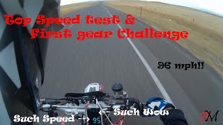 1. Top Speed Test 2005 Husqvarna 510 SMR | First Gear Challenge