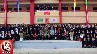 Former Indian Captain MS Dhoni Visit Army Public School In Srinagar   Jammu And Kashmir