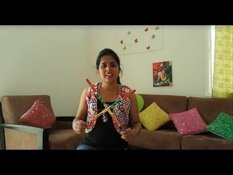 Home made dandiya sticks Navratri Special