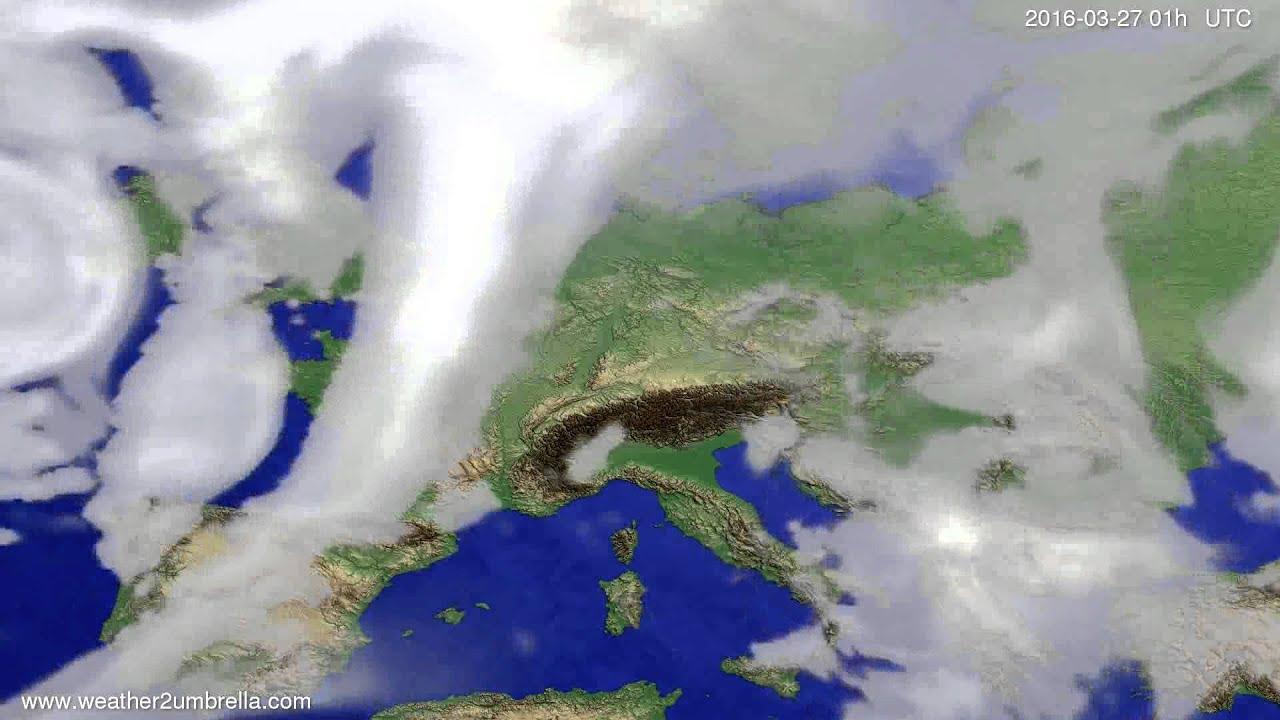Cloud forecast Europe 2016-03-24