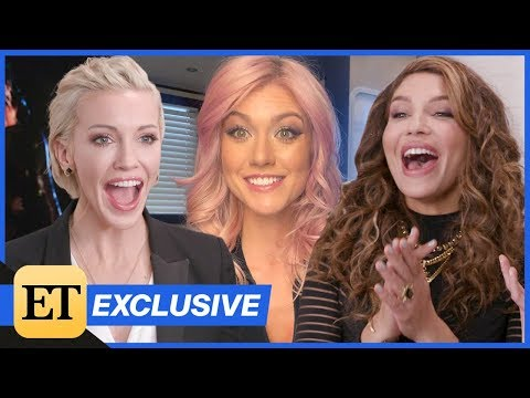 Katherine McNamara Surprises Katie Cassidy & Juliana Harkavy With Arrow Spinoff Question (Exclusi…