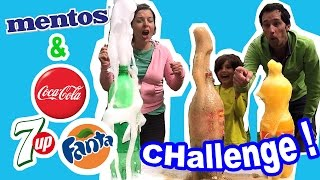 Video COCA FANTA 7UP & MENTOS CHALLENGE ! Quel soda gagne? Démo Jouets MP3, 3GP, MP4, WEBM, AVI, FLV Mei 2017