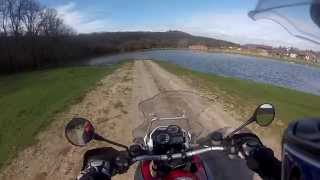 6. BMW R 1200 GS (2006) - Riding through on a small pond