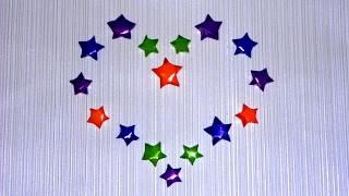 Оригами Звездочки Счастья из бумаги