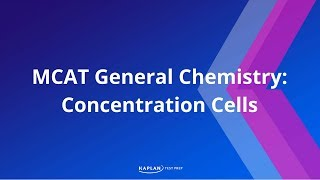 Kaplan MCAT Fast Facts 4: Concentration Cells