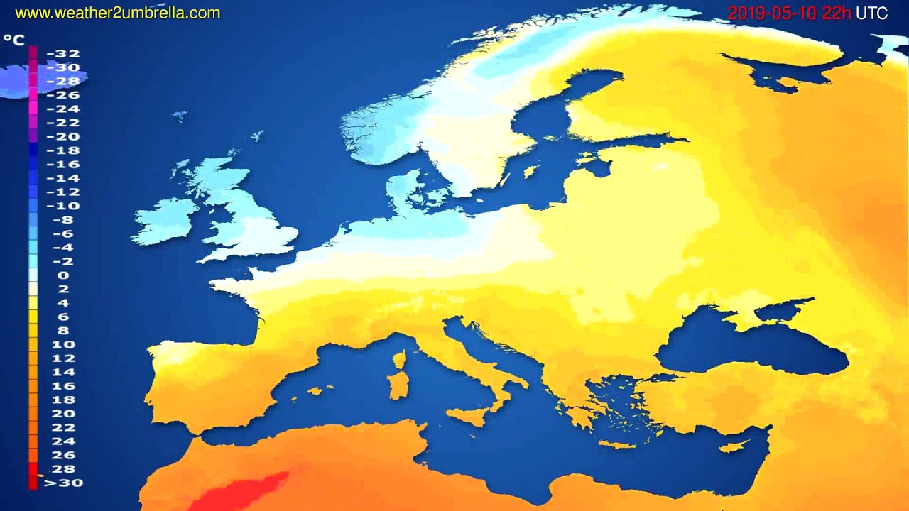 Temperature forecast Europe // modelrun: 12h UTC 2019-05-07