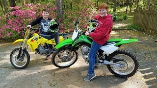 6. 2018 Kawasaki KLX 140g dirt bike. First ride!