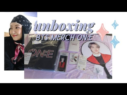 UNBOXING BTS MERCH MOTS ON:E!!! | Monica Sahara