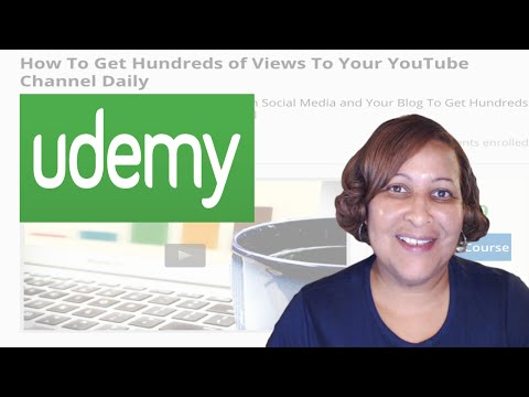 Watch 'How To Get Hundreds of Views Every Day - Udemy Course Announcement - YouTube'