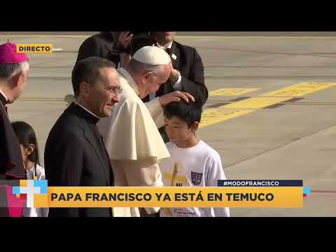 Chile: Papa Francisco rompe protocolo en su llegada a Temuco (VIDEO)