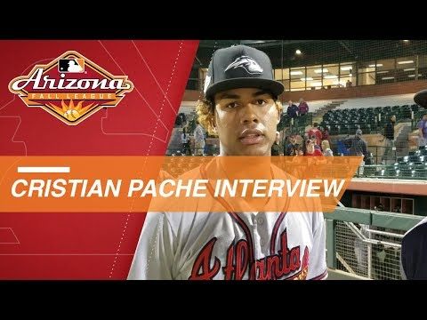 Video: Braves prospect Pache on RBI triple in Fall League