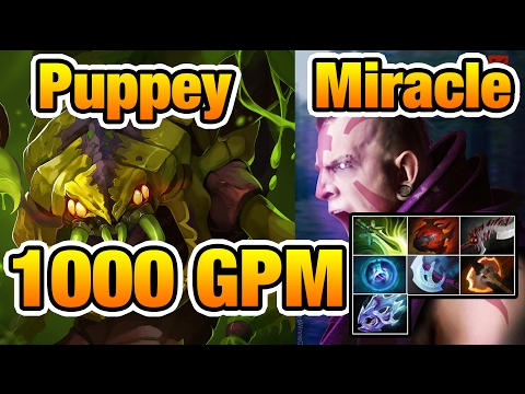 1000GPM Miracle- Anti-mage vs Puppey FIGHT ME! - Dota2 7.02
