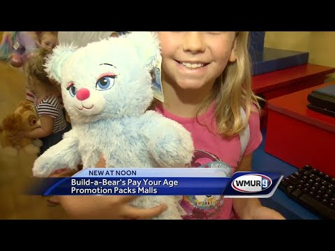 Build-A-Bear's 'Pay Your Age' promotion packs malls across NH, US