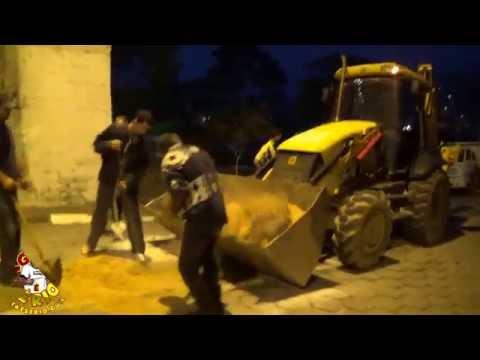 Secretária de Obras faz a limpeza apos a Procissão de Corpus Christi