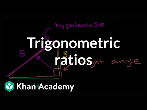 Intro To The Trigonometric Ratios Video Khan Academy