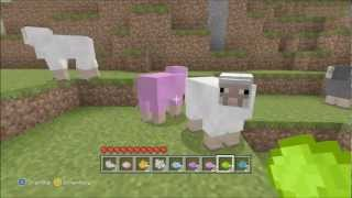 Minecraft Xbox 360 Edition: How To Make Your Sheep Different Colours!