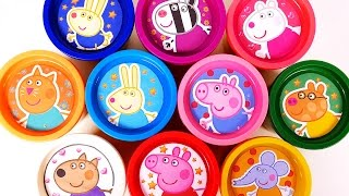Peppa Pig Play Doh Surprise Eggs Learn Colors with Play Dough for Children