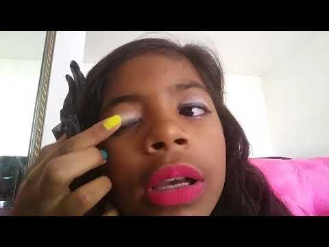 Maquiagem rápida e fácil simples para escola *canal da bianca