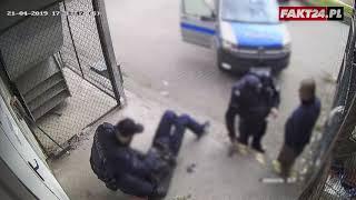 Policjanci nie wiedzieli o monitoringu. Zostały im postawione zarzuty