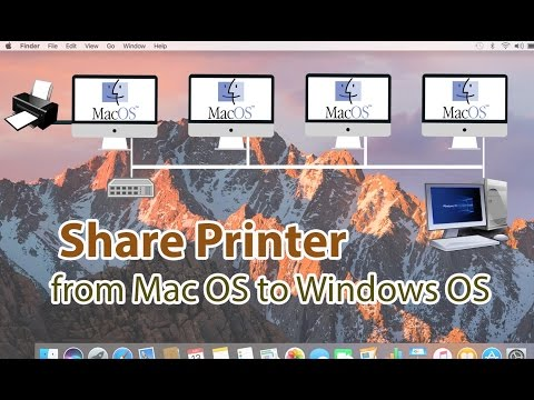 Share Printer from Mac OS to Windows 7, 8, 8.1, 10