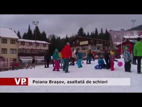 Poiana Brașov, asaltată de schiori