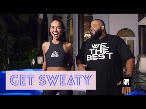 DJ Khaled teaching how to workout