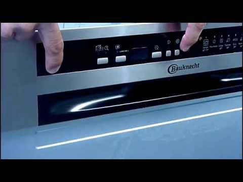 How to adjust water hardness settings on a Whirlpool or Bauknecht dishwasher.