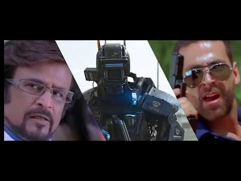2.0 trailer akshay kumar and rajnikant  robot 2.fan made