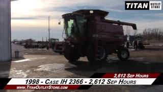 4. Case IH 2366, RT, Chopper, Single Drive, FT, Spec Rotor Combine Sold on ELS!